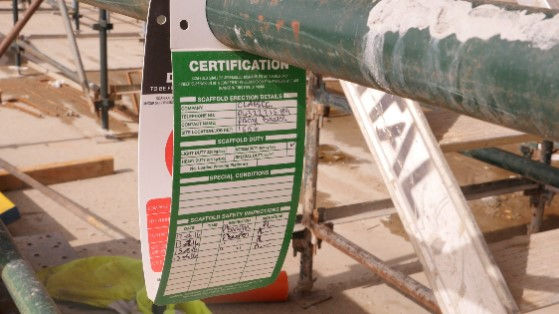 Photo of certification label