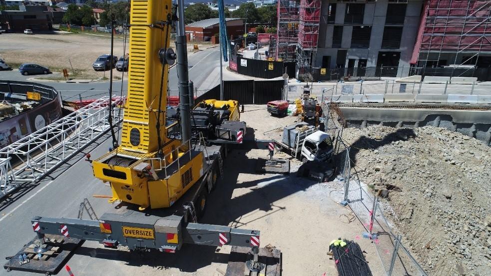 second photo of crane incident