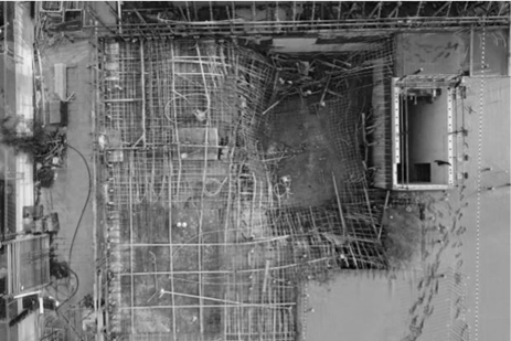 Photo of collapsed formwork